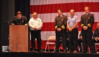 Captain Anthony Giovanni (far right) receives the 2015 Fire Service Unit Citation Award in Concord, NH on 9/8/2015
